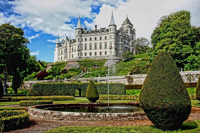 Skotský hrad Dunrobin